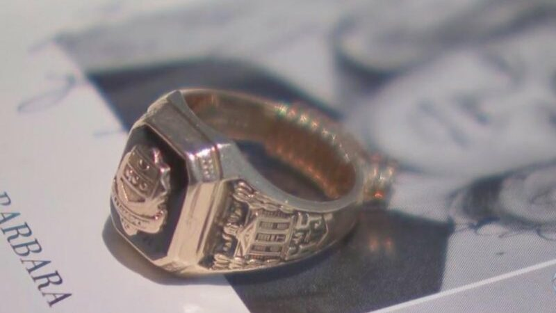 Woman reunited with class ring she didn't know was lost